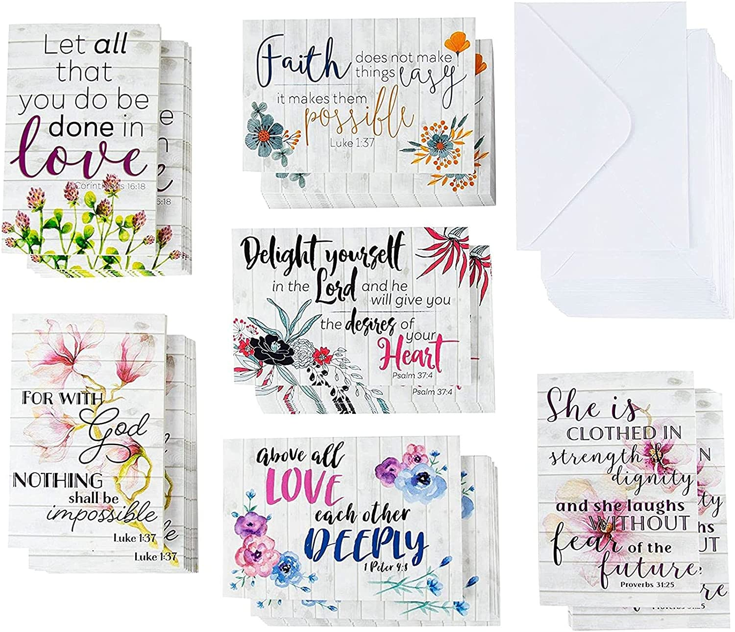 Mail order cheap 60 Inspirational Ranking TOP5 Cards with Envelopes Bulk Bible Quote Verse Sc
