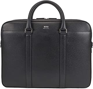 BOSS - Signature_d Doc, Bolsas para portátil Hombre, Negro (Schwarz), 12x30x40 cm (B x H T)