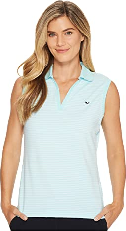 Vineyard Vines Golf - Striped Sleeveless Performance Polo