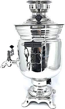 Generic Russian Tula electric samovar kettle 101,44 fl oz(3 liters), Silver