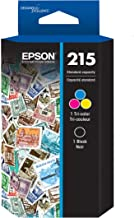EPSON T215 Ink Standard Capacity Black & Color Cartridge Combo Pack (T215120-BCS) for select Epson WorkForce Printers