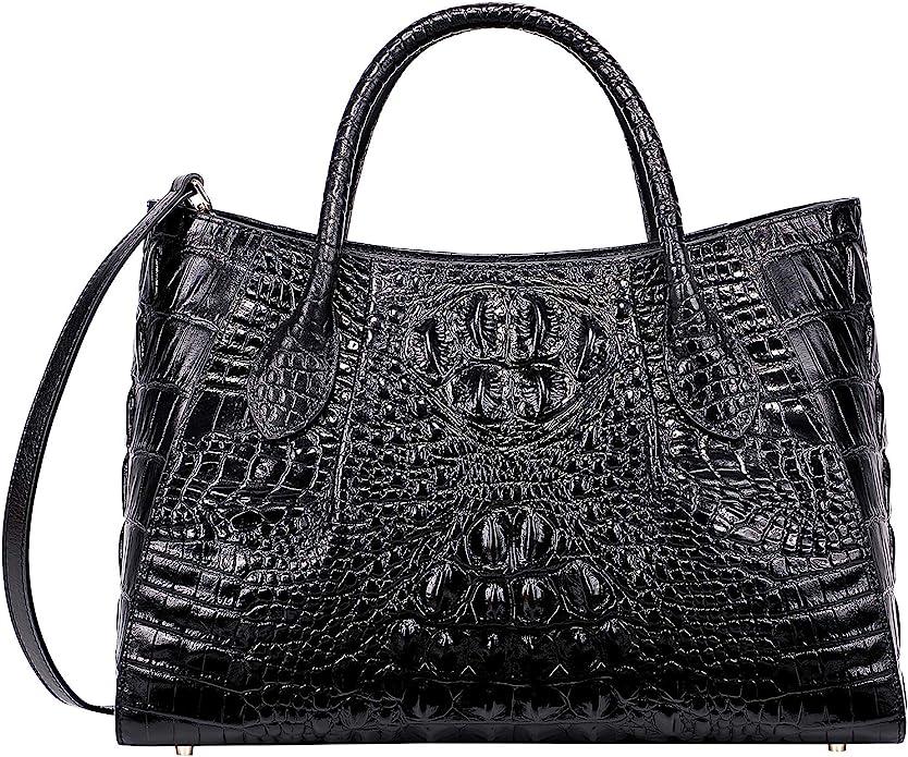 1940s Handbags and Purses History PIJUSHI Women Handbags Crocodile Top Handle Bag Designer Satchel Bags For Women  AT vintagedancer.com