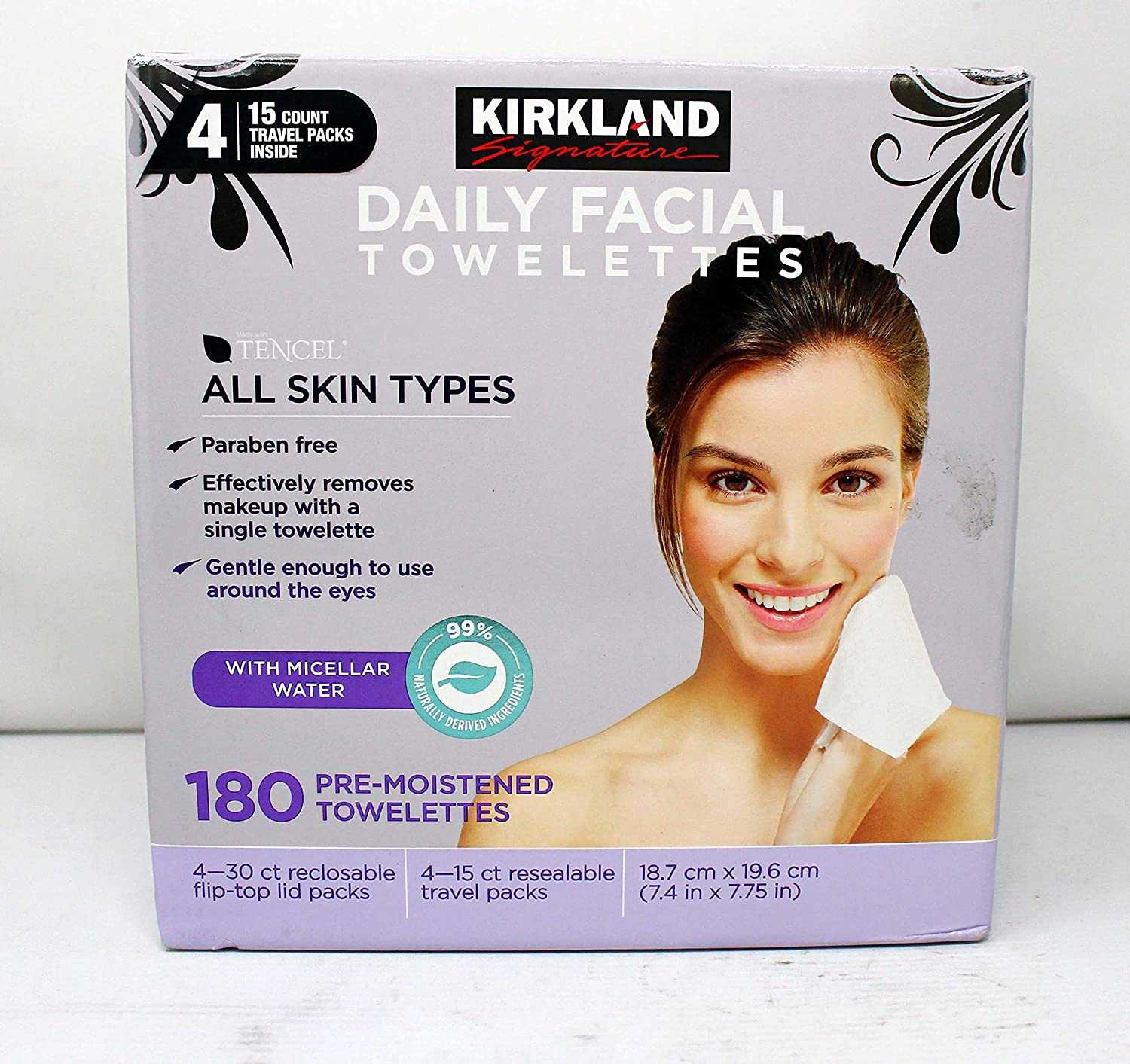 Don't miss the campaign Daily Facial Towellettes 4.53 Pound 180 Count -set 2 1-Box Popular