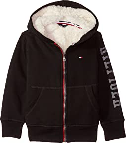 Tommy Hilfiger Kids - Sherpa Lining Full Zip Hoodie (Toddler)