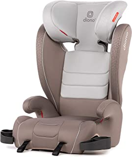 Diono Monterey XT Latch, 2-in-1 Belt Positioning Booster Seat with Expandable Height/Width, Grey Oyster