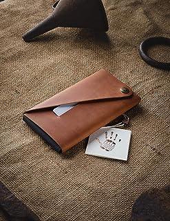 Pelle iPhone 11, 11 Pro, 11 Pro Max manicotto minimalista/titolare della carta Crazy Horse in pelle marrone Samsung S10, S...
