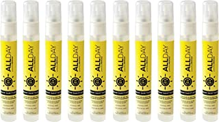 All Day Hand Sanitizer - 24hr Protection - 10pack Pocket Pens - Moisturizing, Alcohol-Free, Hypoallergenic, Fragrance-Free