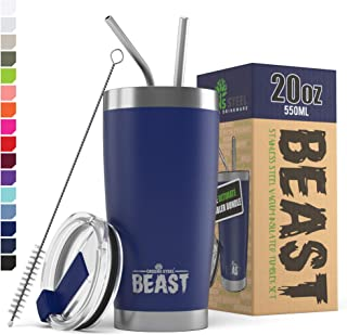 BEAST 20 oz. Royal Blue Tumbler Stainless Steel Vacuum Insulated Coffee Cup Double Wall..