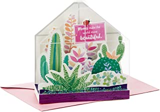 Hallmark Paper Wonder Mothers Day Pop Up Card (Succulent, Moms Make the World More Beautiful)
