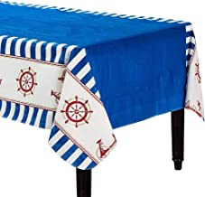 Amscan Nautical Flannel Backed Tablecloth Multicolor