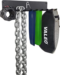 IRON AMERICAN Omega Multi-Purpose - Gym Storage Exercise Band & Jump Rope Rack - Heavy-Duty Steel Rack for Lifting Belts, Chains, Exercise Bands, Jump Ropes (Mounting Hardware Included)