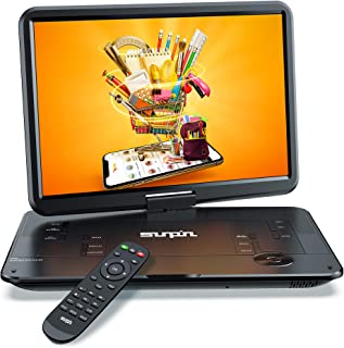 "SUNPIN Portable DVD Player 17.9"" with Large HD Swivel Screen, 6 Hours Rechargeable Battery, Anti-Shocking, Resume Play, Su..."