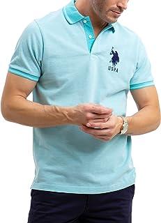 U.S. Polo Assn. Mens Solid Birdseye Pique Polo Shirt with...