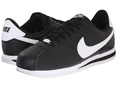 Nike Cortez Leather (Black/Metallic Silver/White) Men