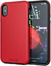 Crave Case for iPhone Xs and iPhone X, Dual Guard Protection Series Cover for Apple iPhone X/XS (5.8 Inch) - Red