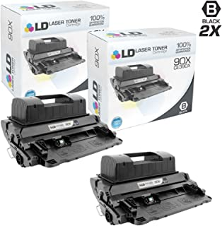 LD Compatible Toner Cartridge Replacement for HP 90X CE390X High Yield (Black, 2-Pack)