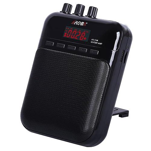 Amplificador de Guitarra Portátil, AROMA Mini Altavoz para Guitarra portátil con función de grabadora de