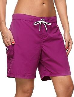 Sociala Women's Long Board Shorts Quick Dry Swim Shorts Beach Boardshorts
