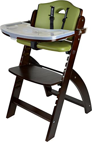Abiie Beyond Wooden High Chair with Tray. The Perfect Adjustable Baby Highchair Solution for Your Babies and Toddlers...