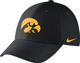 Men's Iowa Hawkeyes Black Dri-FIT Wool Swoosh Flex Hat - OneSize