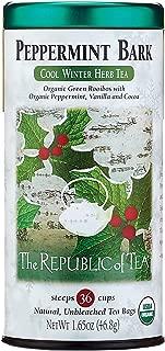 The Republic of Tea Organic Peppermint Bark Herb Tea, 36 Tea Bags, Fusion Of Cocoa And Peppermint Tea