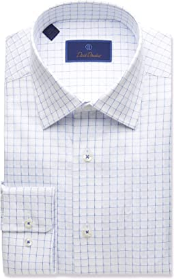 Regular Fit Twill Box Check Dress Shirt