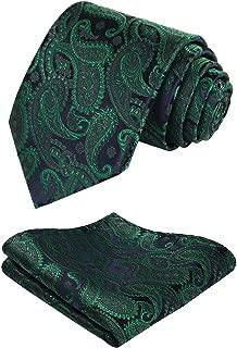Extra Long Floral Paisley Tie Handkerchief Men's Necktie & Pocket Square Set