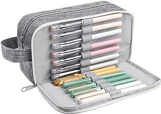 Vicloon Pennskrin stor kapacitet pennväska 3 fack pennväska tentamen penna pennfodral sminkväska kontor kontorsmaterial fö...