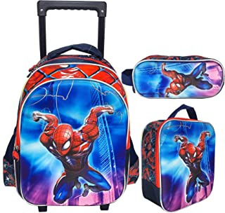 3D Spiderman School Bag Trolley With Backpack For Kids Boy Include Lunch bag And pencil Pouch (15)