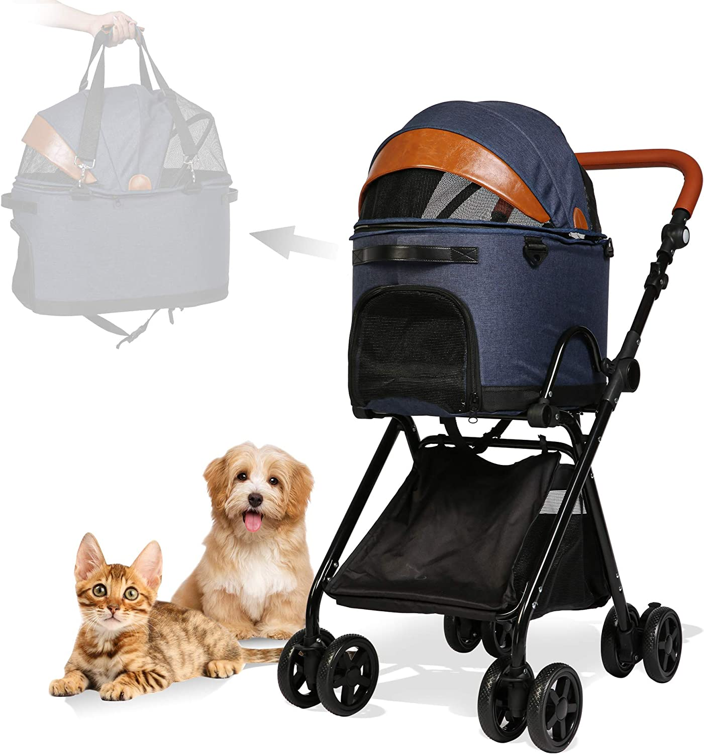LUCKYERMORE Luxury A quality assurance surprise price is realized Folding Pet Stroller 1 Ca Detachable in 2