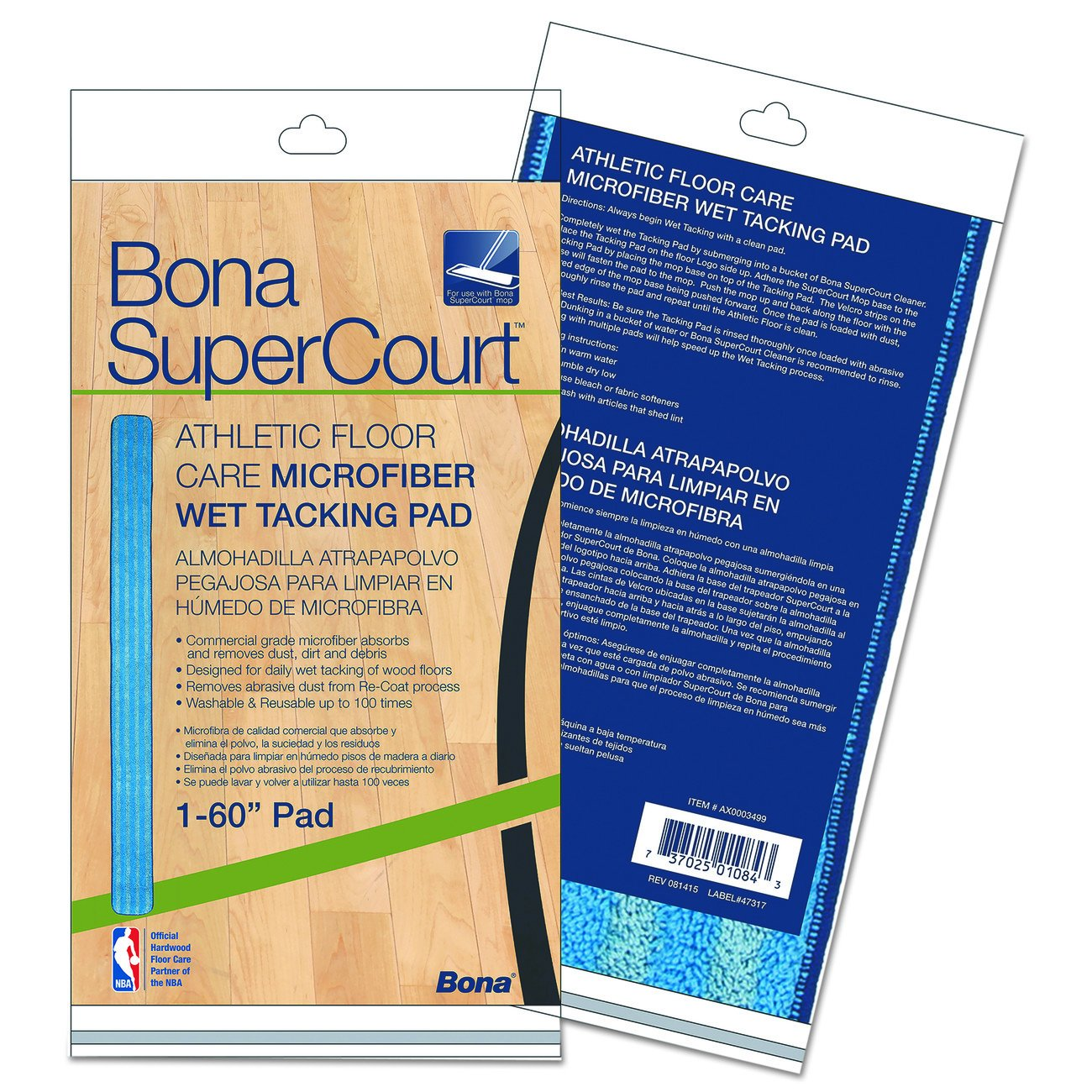 Bona AX0003499 Super Bombing free shipping Court Athletic Care Ta Wet Microfiber It is very popular Floor