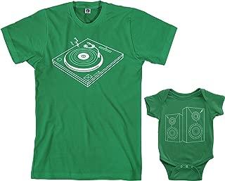 Turntable & Speakers Infant Bodysuit & Men's T-Shirt Matching Set