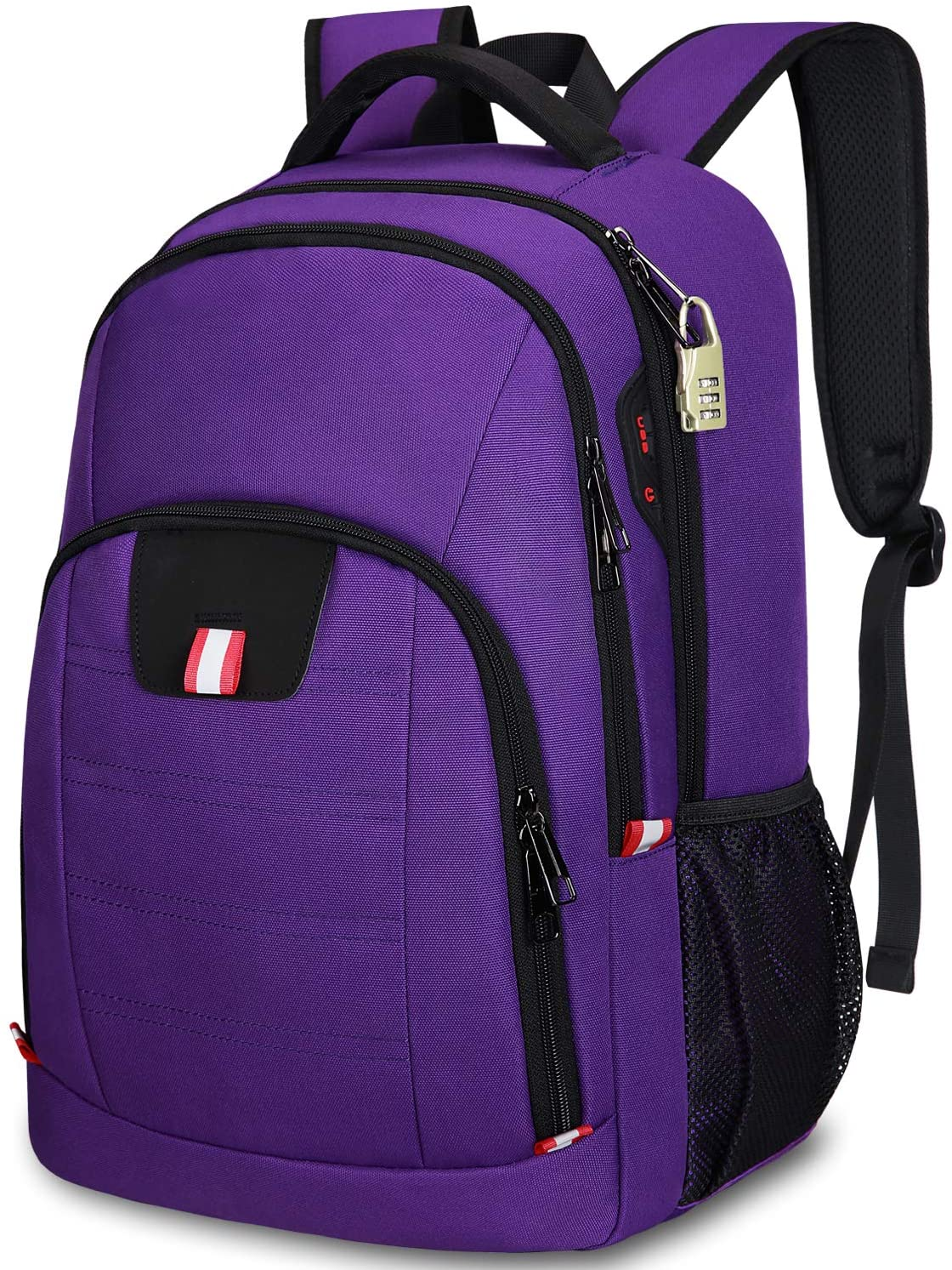 Travel Backpack for Women,15.6 Inch Laptop Backpack School Backpack For Girls with USB Charging Slit, Anti Theft Casual Daypack College Backpack for Women/Girls, Purple
