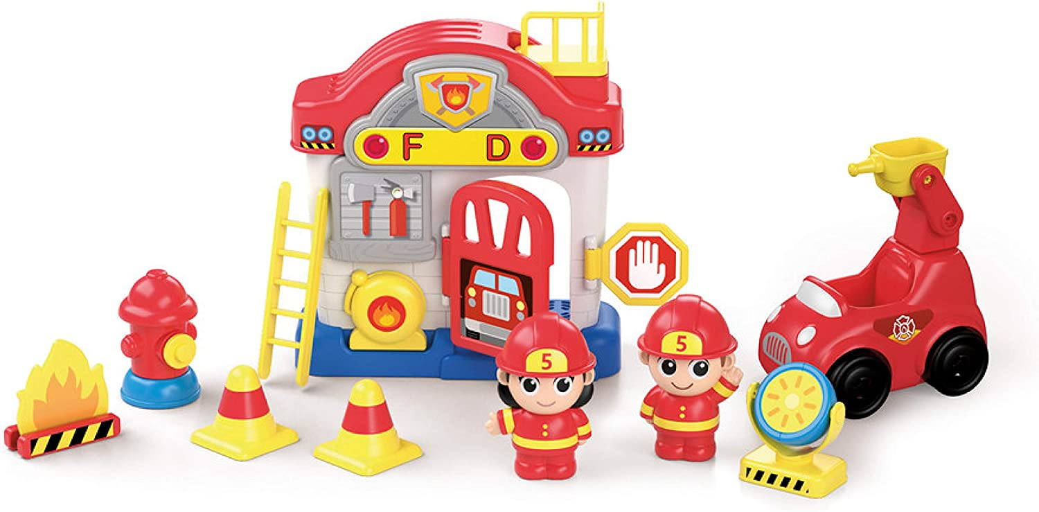 Kidoozie Lights Recommendation 'n Sounds Fire free shipping Station Activity Toy - fo Playset