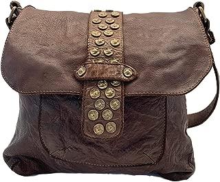 CIVICO 93 Leather Womens Crossbody Handbag Laptop Bag Purses Work Purse