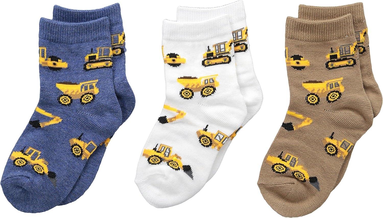 Jefferies Socks Mens Construction Triple Treat 3-Pack (Infant/Toddler/Little Kid)