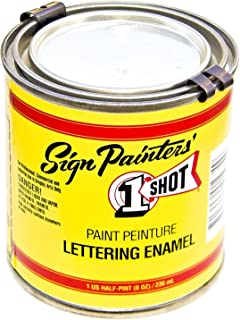 1-Shot Letter Enamel 109L Metallic Gold 4 ounce