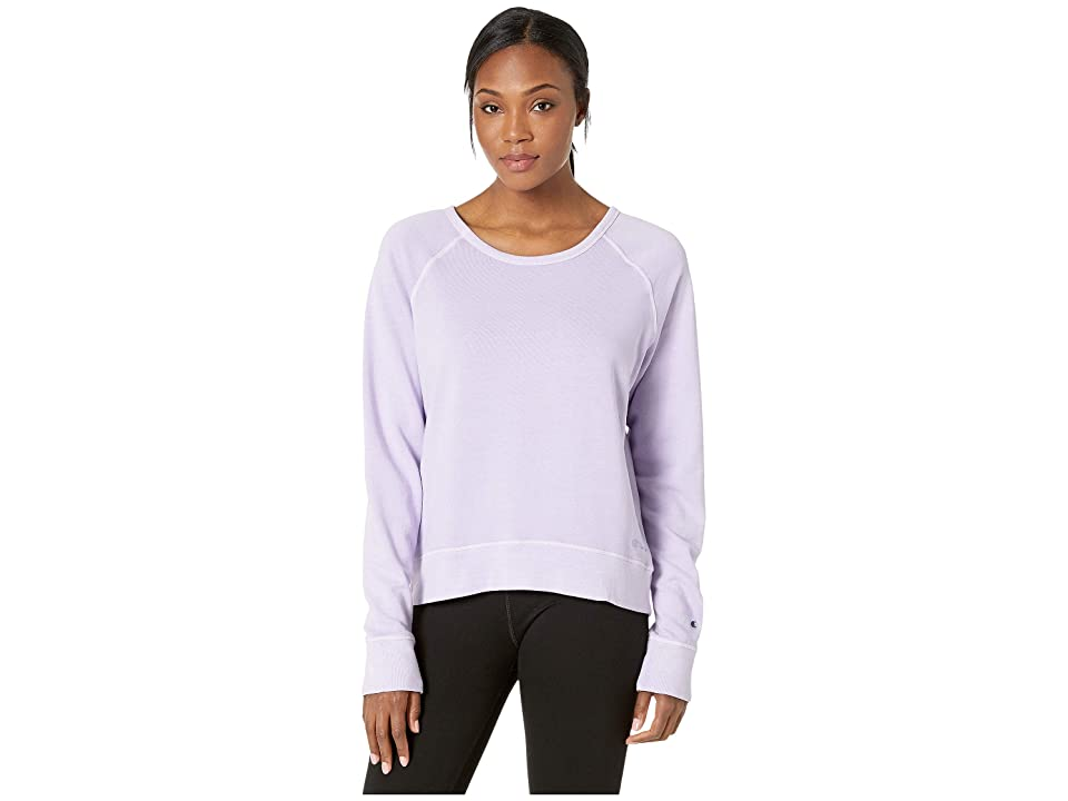 Champion Vintage Dye Fleece Crew (Pale Violet Rose) Women