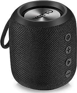 YOTTO Portable Bluetooth 4.2 Speaker IPX6 Waterproof Shower Bass Speaker with 12W HiFi Stereo Sound, TWS, Built-in Mic, Handsfree Speakerphone, FM Radio, TF Card Slot Outdoor Speaker