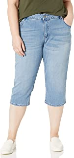 Women's Plus-Size Ultra Soft Denim Capri