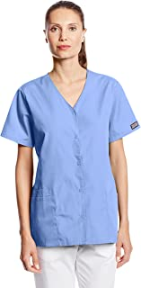 Cherokee Women's Workwear Snap Front V-Neck Scrubs Shirt