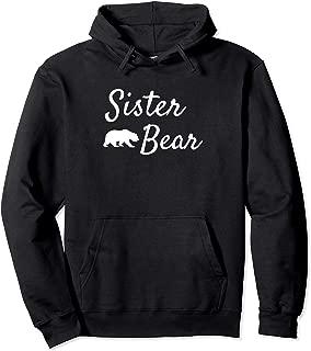 Sister Bear Hoodies for Women Papa Bear Mama Bear Hoodies