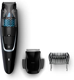 Philips Beardtrimmer Series 7000 Vacuum Beard Trimmer with Precision Trimmer & 60 min Cordless Use, Black, BT7201/15
