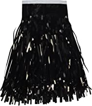 Beistle 55039-BK Metallic Fringe Drape Hanging Curtain, Halloween Party Decor, Graduation Supplies, 15