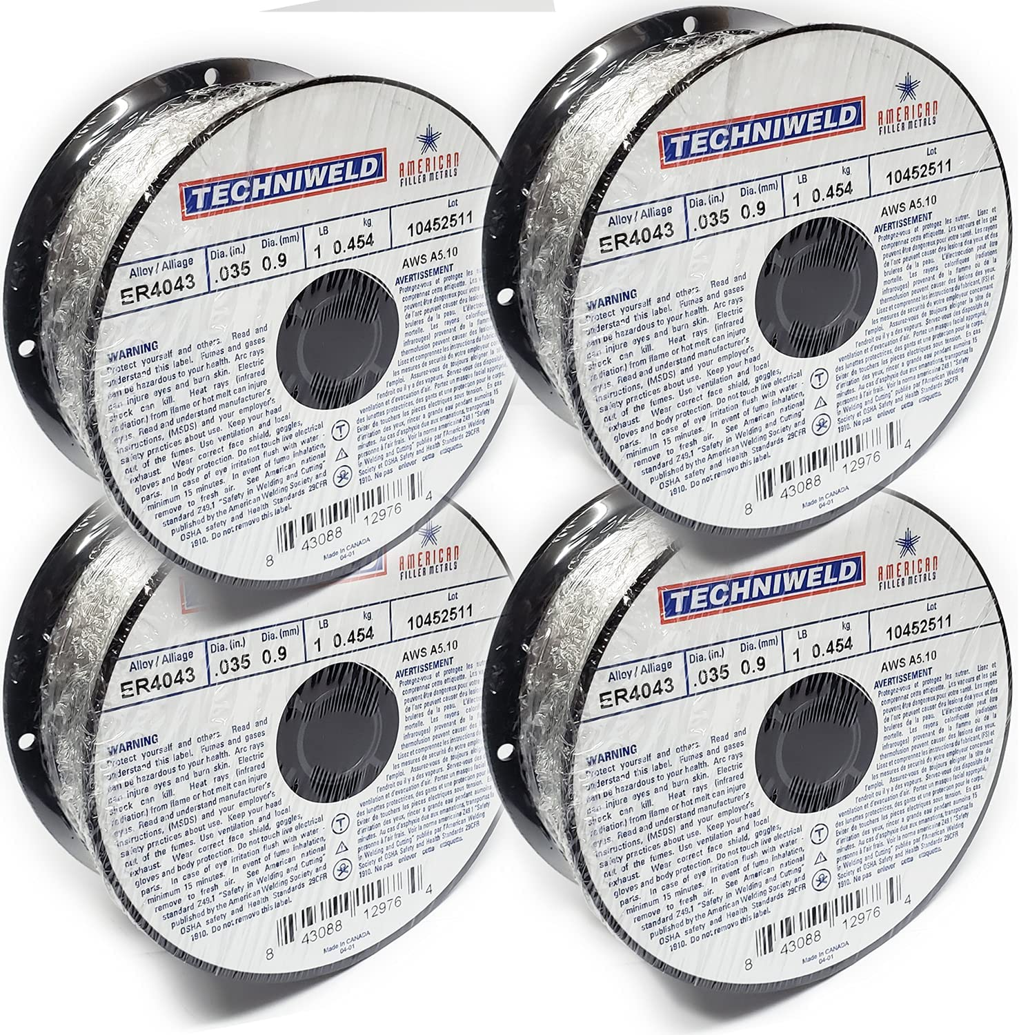 Techniweld ER 4043 ALUMINUM MIG Welding Wire SPOOL 1 X G LB .035 Bombing Direct store free shipping