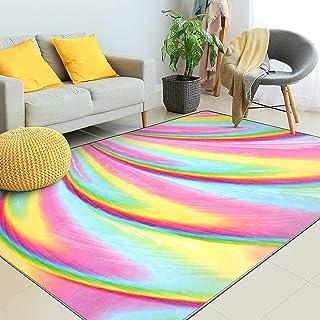 Kids Rugs for Girls Bedroom, Kids Rainbow Area Rugs...