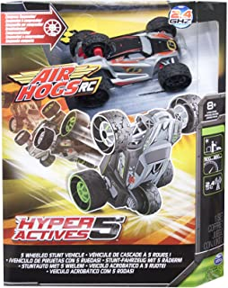 Air Hogs RC Hyper Actives 5 - 5 Wheeled 2.4 GHZ RC Stunt Vehicle - Grey