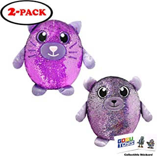 Shimmeez Large 14 inch (2 Pack) Cat, Bear with 2 GosuToys Stickers