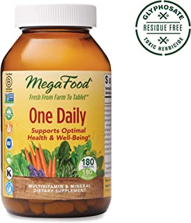 MegaFood, One Daily, Supports Optimal Health and Wellbeing, Multivitamin and Mineral Supplement, Gluten Free, Vegetarian, 180 Tablets (180 Servings) (FFP)