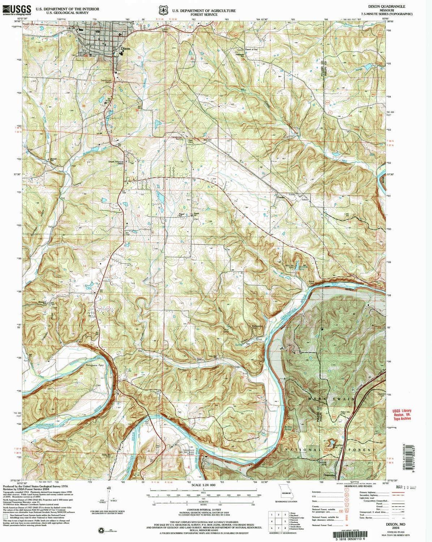 YellowMaps Dixon Super sale period limited MO topo map 1:24000 Max 56% OFF X Minute H Scale 7.5